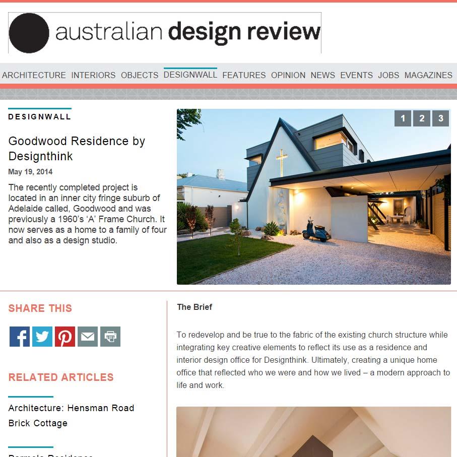 AUSTRALIAN DESIGN REVIEW MAY 2014