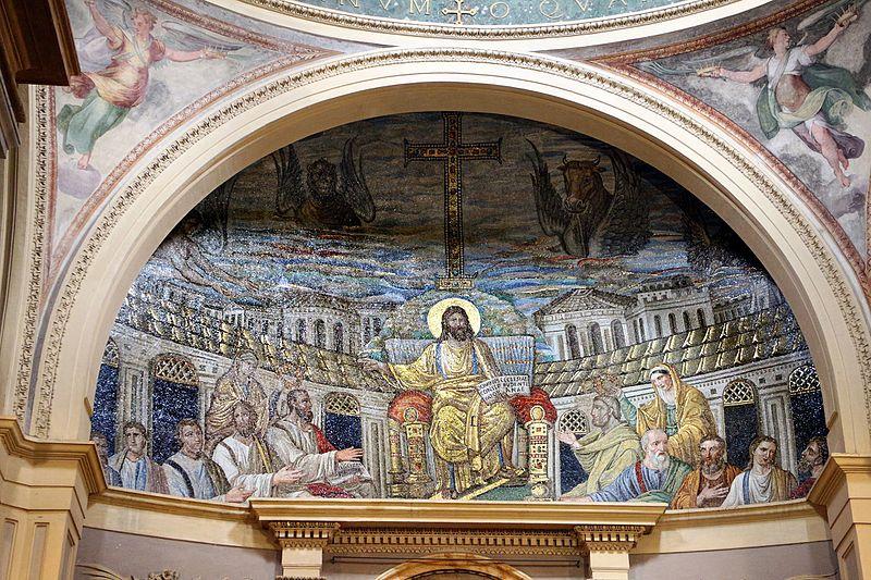https://commons.wikimedia.org/wiki/File:Mosaico_di_cristo_in_trono_tra_gli_apostoli_e_le_ss._prudenziana_e_prassede,_410_dc_ca._01.jpg