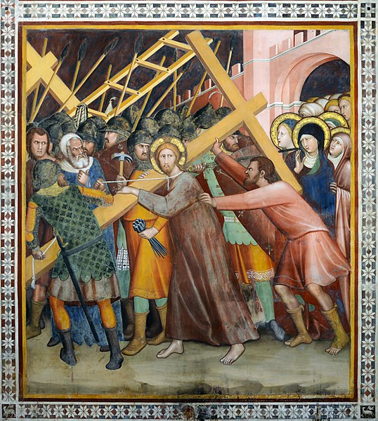 https://commons.wikimedia.org/wiki/File:Jesus_with_the_cross_in_Duomo_(San_Gimignano).jpg