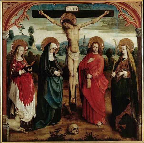 https://commons.wikimedia.org/wiki/File:Ma%C3%AEtre_de_la_L%C3%A9gende_de_sainte_Ursule_-_Christ_en_croix_avec_saintes.jpg
