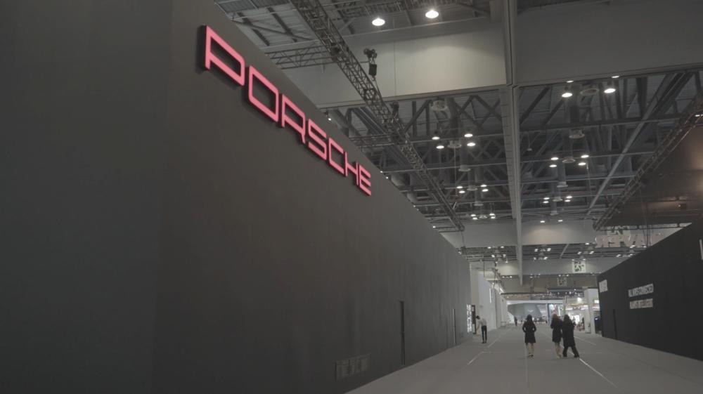 Seoul Motor Show Porsche kiosk - Design + Motion Graphics
