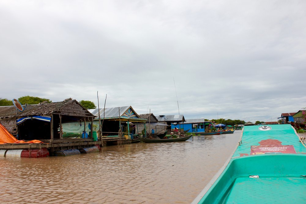 The floating houses of Peam Bang