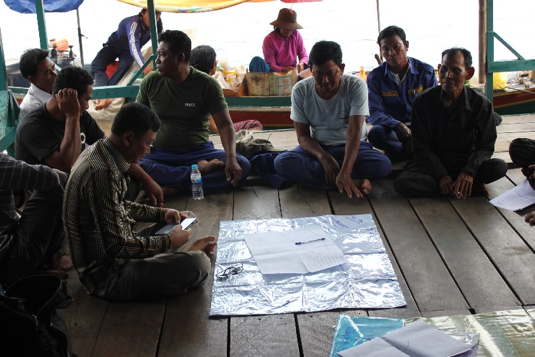 Picture 1: A collaboration of efforts during a discussion meeting in Peam Bang Commune