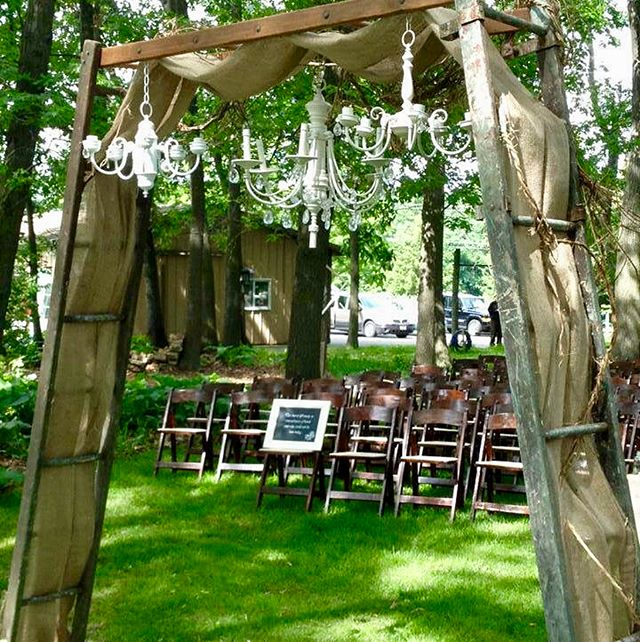 Out of all the inventory in our warehouse, one item consistently seems to rent out the most often...our Orchard Ladder Arbor. It's versatile to style according to the couple's taste. Rustic and simple or dripping with florals and chandeliers, we always appreciate the honor of setting this up for our lovely couples to be wed under!  #outdoorwedding #weddingrental #weddingplanning #vintagewedding #rusticwedding #weddingarch #weddingarbor #orchardladder #oldladder #weddinginspiration #weddingideas #chandeliers #weddingflowers #weddingphotography