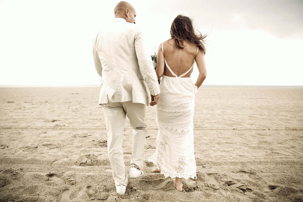 brian & Lori - Private beach wedding at the Virginia oceanfront