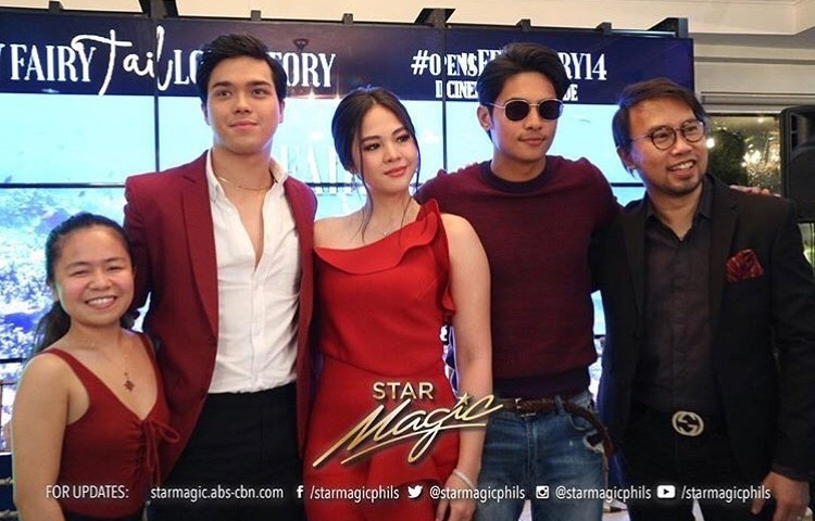 Direk Perci Intalan with the cast of My Fairy Tail Love Story