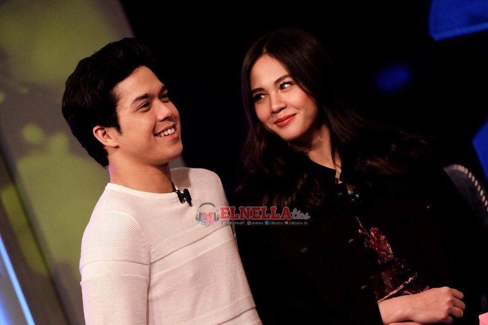 Tito Boy says asks Elmo, 'Hypothetically, you get a chance to talk to your Papa. He asks you, 'Elmo, my son, who is that girl beside you?' Paano mo ipapakilala si Janella sa Papa mo?'