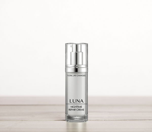 Luna Nightime Repair Creme   It works while you rest and helps recondition your skin's vitality.