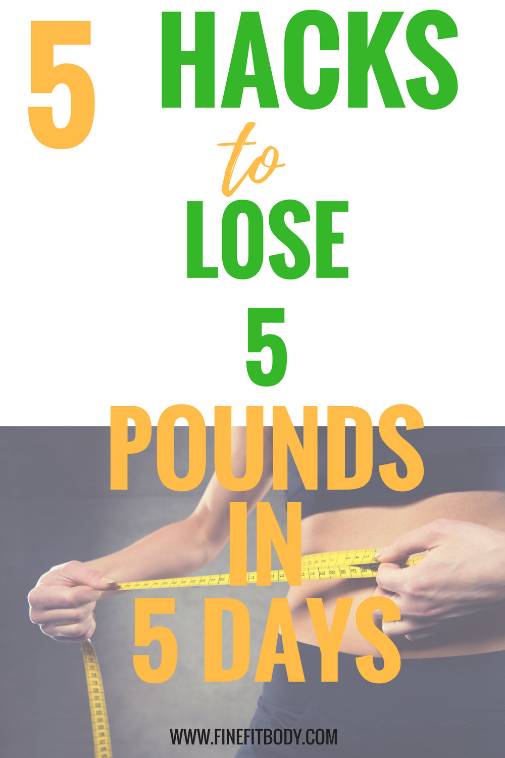 Wow, I love these hacks to lose five pounds in five days without exercise! This will help me lose weight quick!