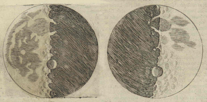 Drawings from Galileo's Starry Messenger (1610)