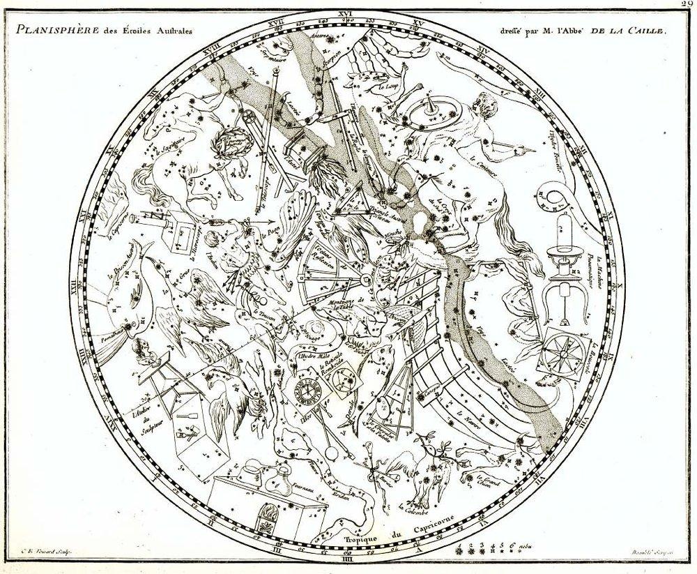 De Lacaille's 1756 Planisphere