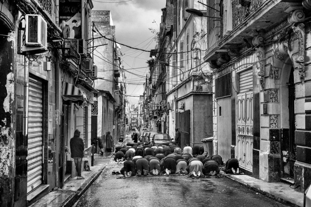 Friday prayers in Oran, 2015