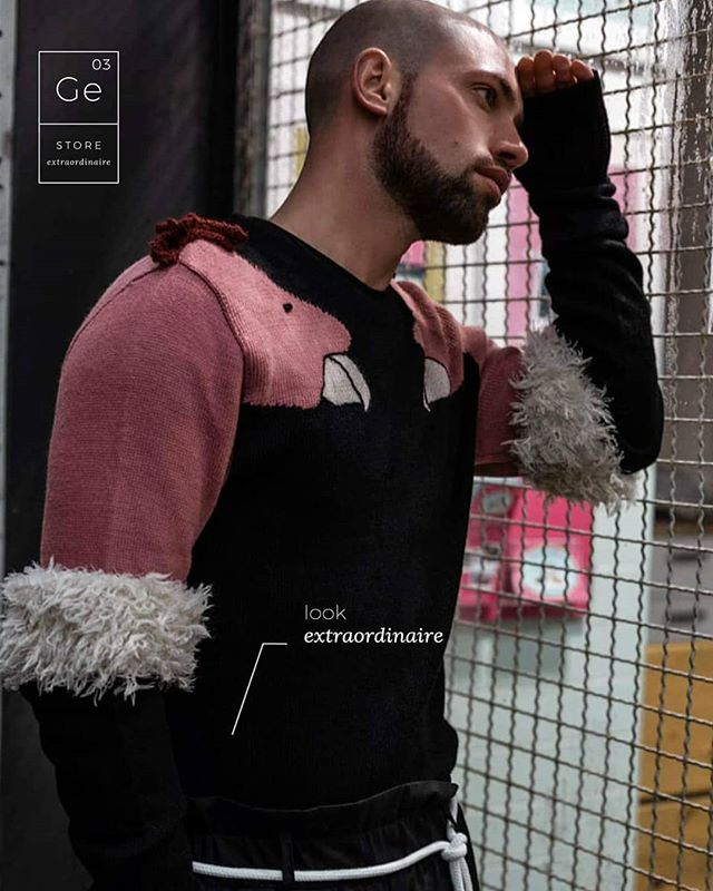 our Boy @christopherkeyy wearing one of a kind @juandelapazofficial 'Condor Sweater' and #ToluandHiklac paperbag pants.  #Ge03 #piecesextraordinaires #ootd #lovethelook #storeextraordinaire #artisangoods #objetstrouvés #beaute #highfashion #lifestyle #beauty #nichefragance #nicheproducts #conceptstore #berlin #extraordinaire #design #create #artisan #art #vscocam #picoftheday #instaphoto #instamood #instagood #instadaily