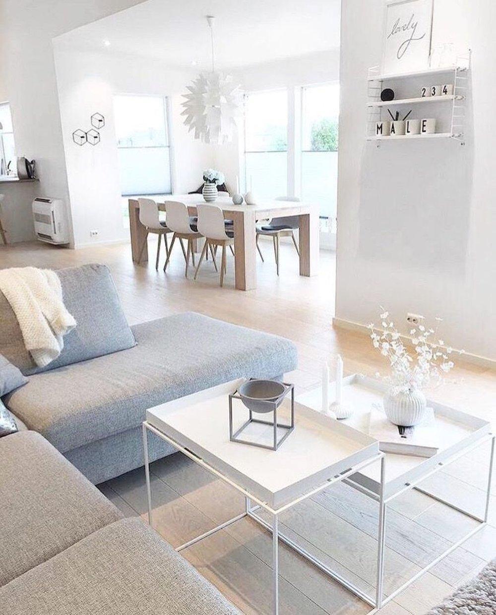 minimaluxe scandinavian living room