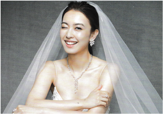 Elle Wedding Dec 2016   Tracy Chu in Monique Lhuillier