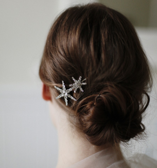 Name: VENUS BOBBY PIN    Description: These Swarovski crystal stars on a slender bobby pin make the perfect accent for any festive hairstyle. This bobby pin is an easy way to brighten an outfit and polish off a hairstyle. Measures 2 1/2 inches by 1 1/2 inches. Made by hand in New York City.