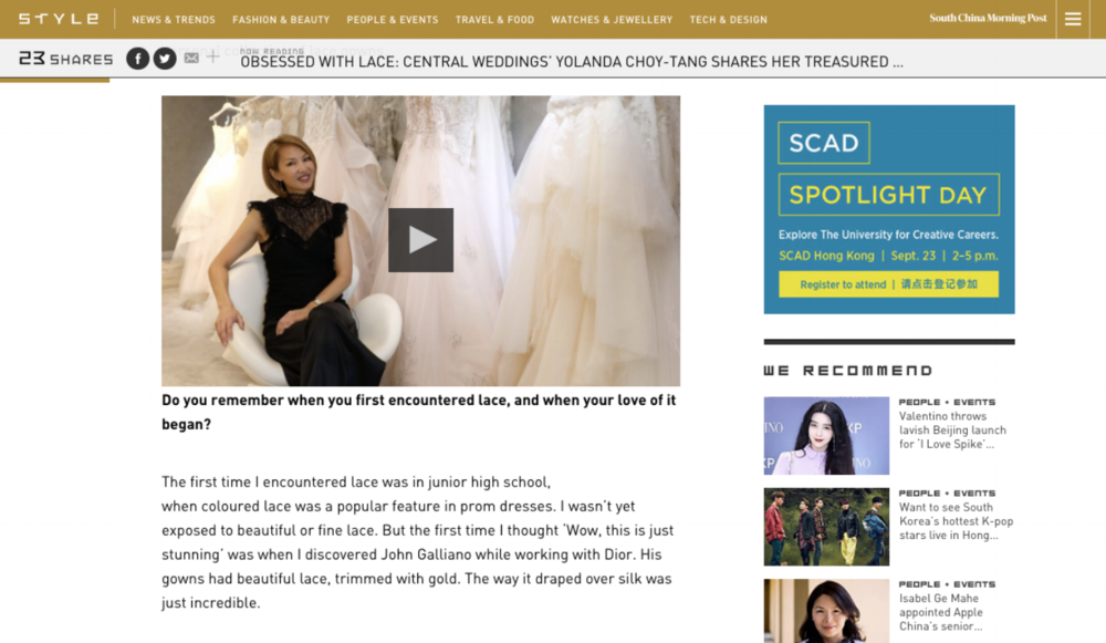 style interview with yolanda choy