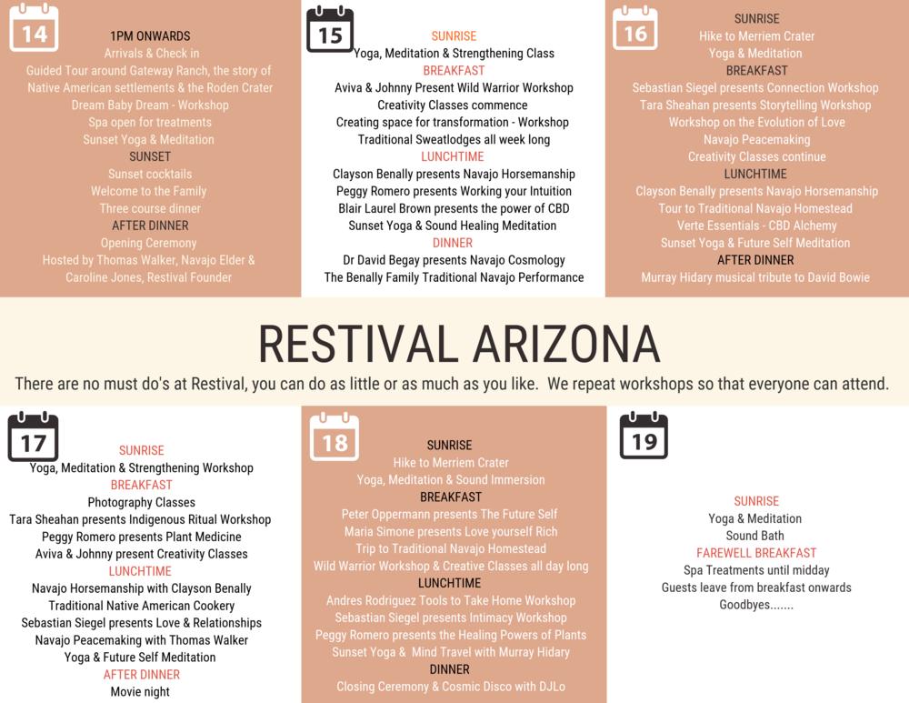 Restival Arizona Program.png