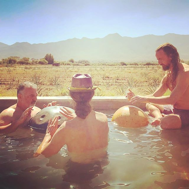 It a started when @nachoarimany beat his hang drum in the pool at Restival Oaxaca....#poolparty #restival