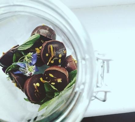 Sneak peak of the raw vegan chocolate CDB edibles