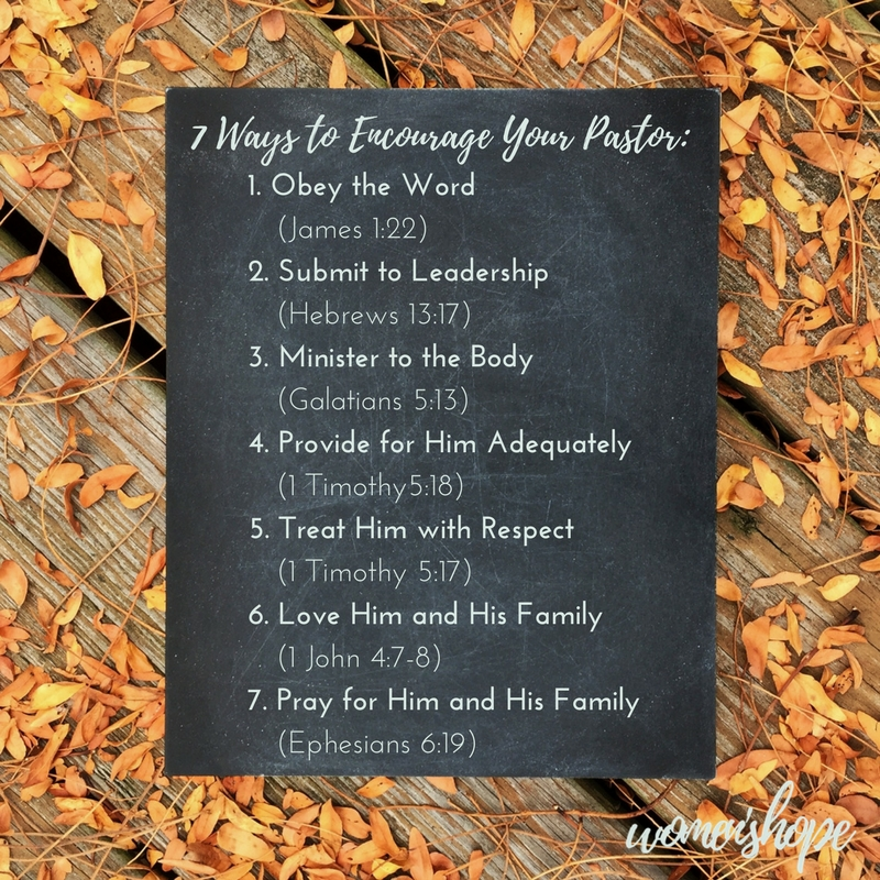 7 Ways to Encourage Your Pastor