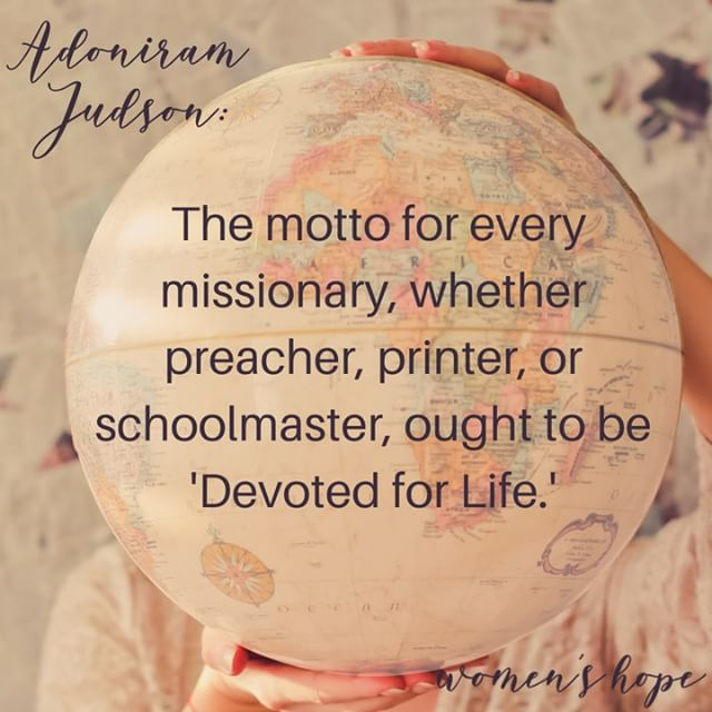 "MISSIONS MONDAY! Take a few minutes out of your day to pray for missionaries everywhere. As school is starting, I am thinking of all the teachers who are in their own sort of mission field. Pray for Christian teachers to have gospel influence on the students whom God has entrusted to them. ❦ ❦ The motto for every missionary, whether preacher, printer, or schoolmaster, out to be ""Devoted for Life."" ~Adoniram Judson ❦ ❦ #backtoschool #missionsmonday #teachers #teacherspayteachers #christianteachers #missionary #missions #influence #gospel #evangelism #tpt #missionaryteacher #schooldays #womensministry #missions #womenintheword #school"