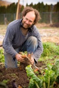 Greg storing carrots