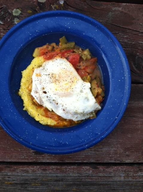 Mmm... veggie grits for breakfast...