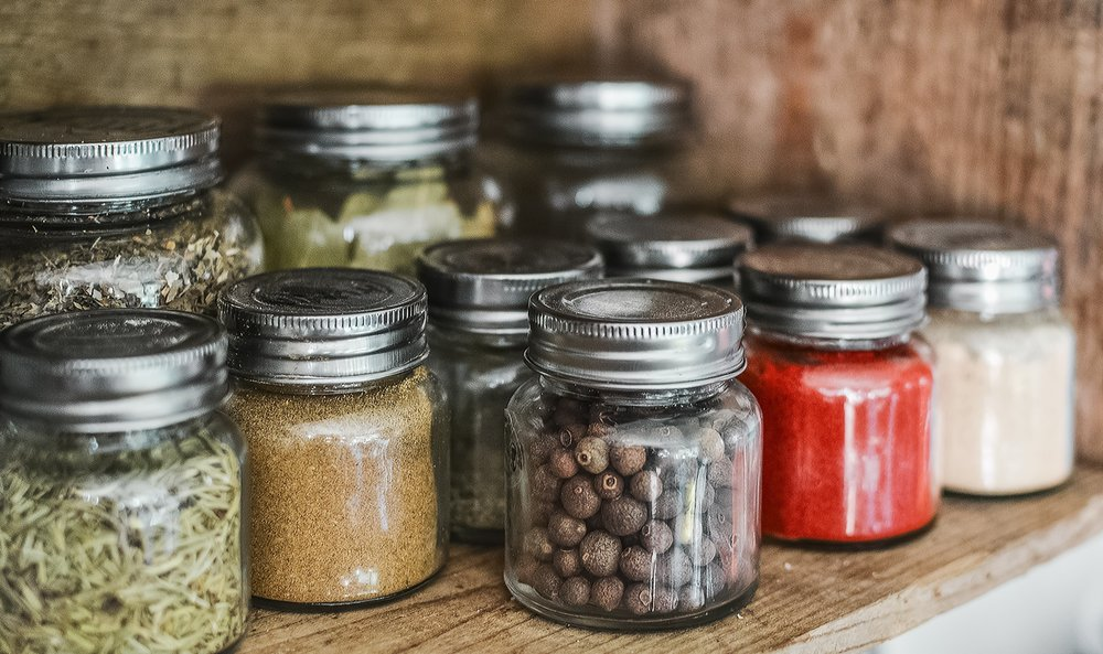 Mason jars make great storage containers for your spices!