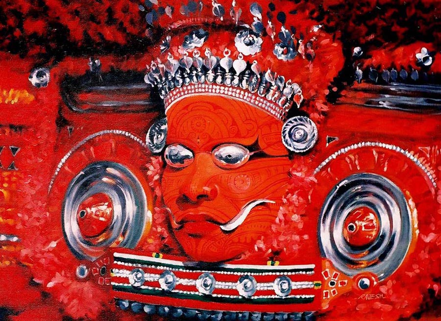 Theyyam  oil on canvas - 18x24 inches - 2003