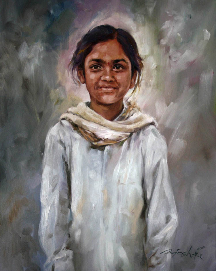 Whitefield's Girl  Oil on Canvas - 24x30 inches - 2009