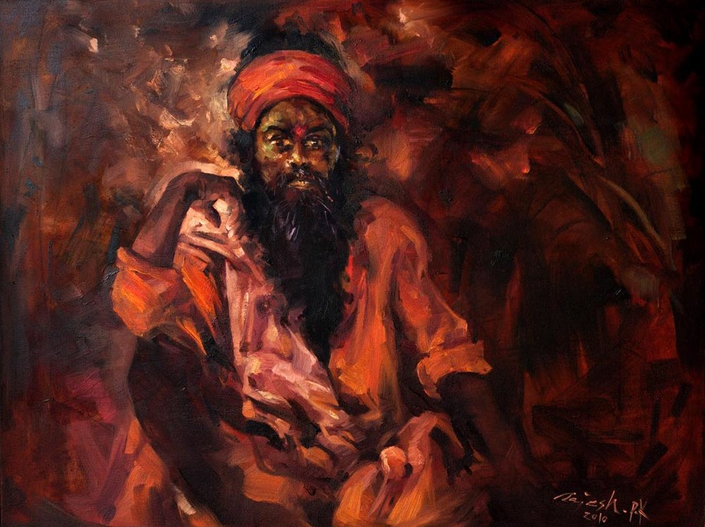 Saint  Oil on Canvas - 30x40 inches - 2010