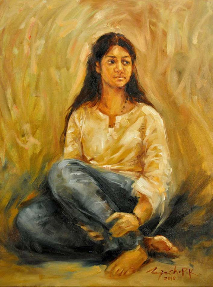 Sitter  Oil on Canvas - 24x30 inches - 2010