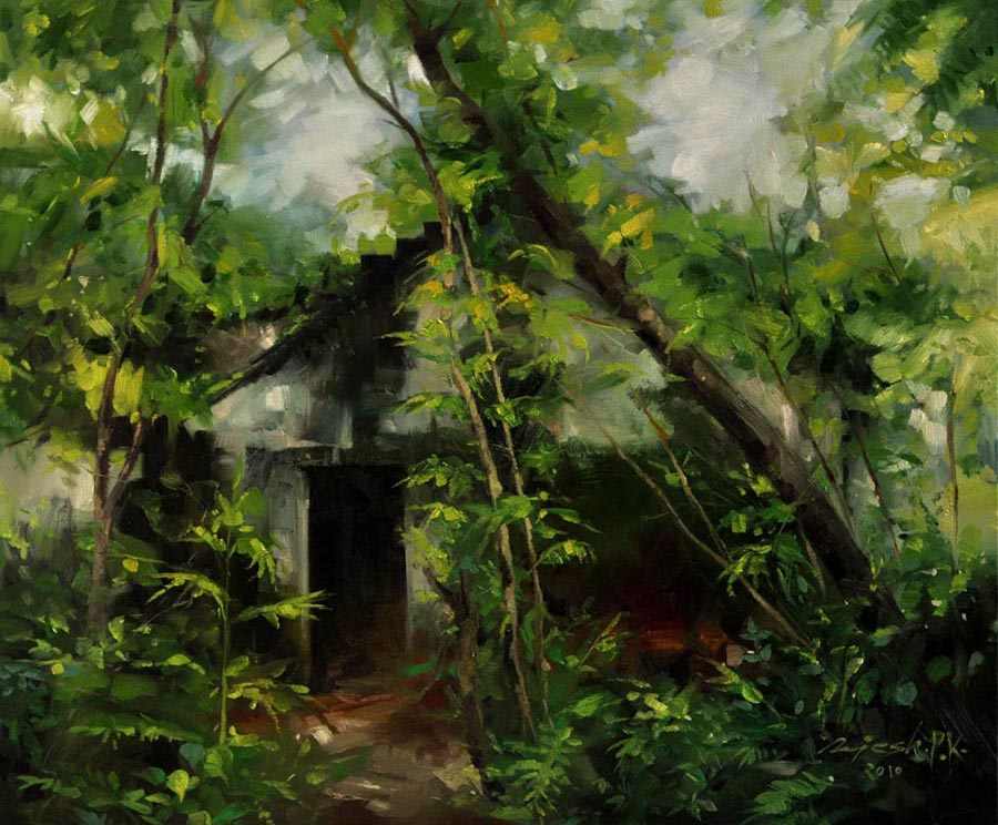 Hidden Behind the Woods  Oil on Canvas - 30x36 inches - 2010