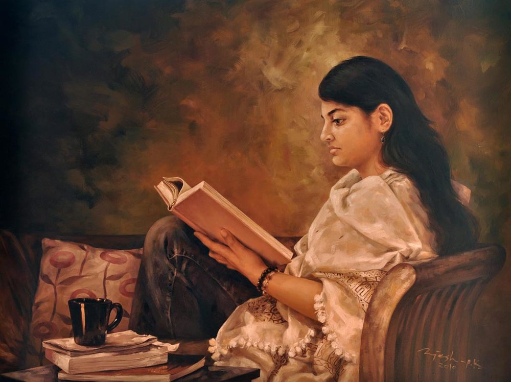 The Reader  Oil on Canvas - 36x48 inches - 2010