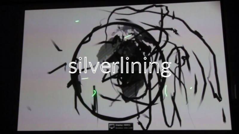 Silverlining(Interactive Film for Cinema) - Writer and Technical Lead at Digital Stories residency (Lille, France) // 2014A short animated drama meant to be shown in a cinema. The film can be interacted with using laser pointers.