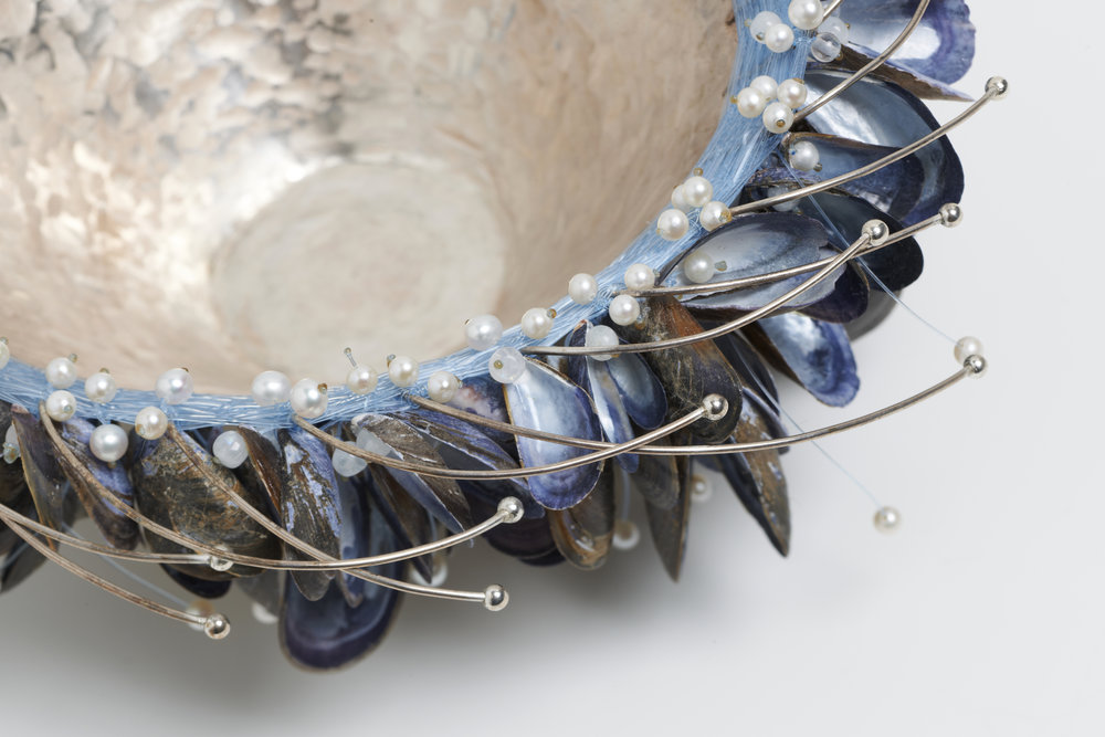 Detail of Mussel Shell Bowl