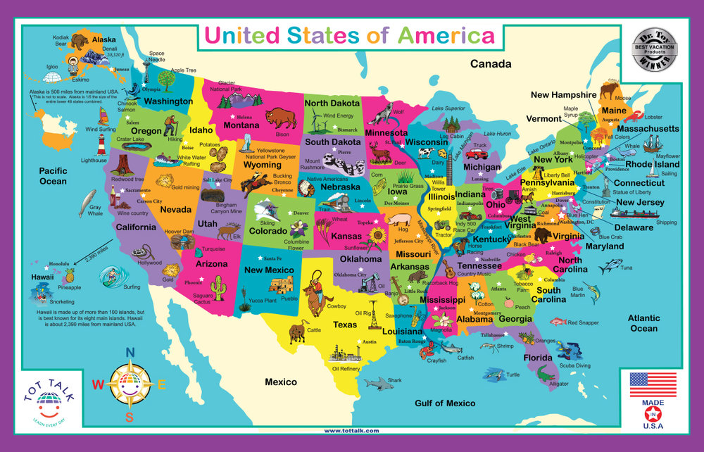 USA Geography Placemat