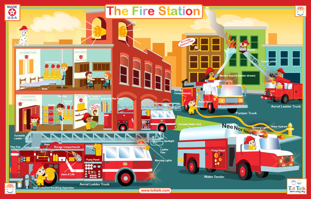 Fire Station Placemat