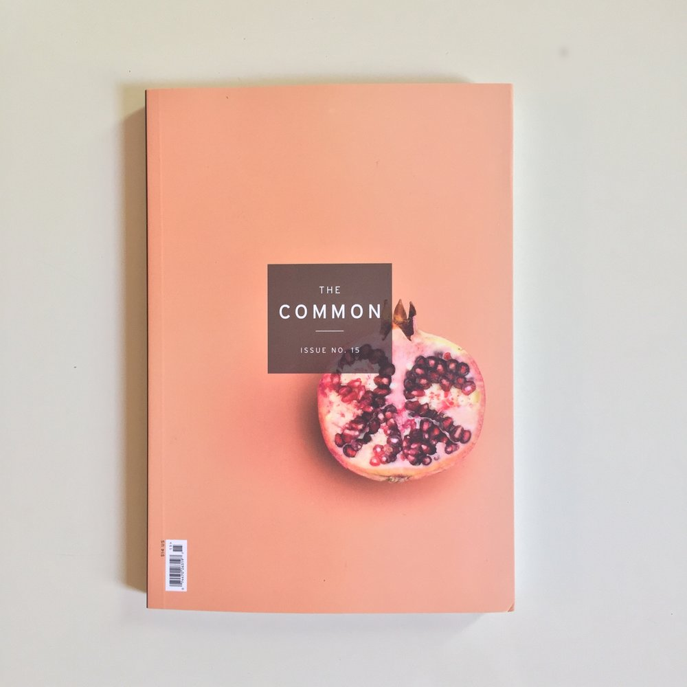 Spring 2018, Issue 15,  The Common .