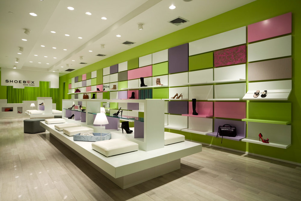 Shoebox NY Shoe Store, Retail Store Design