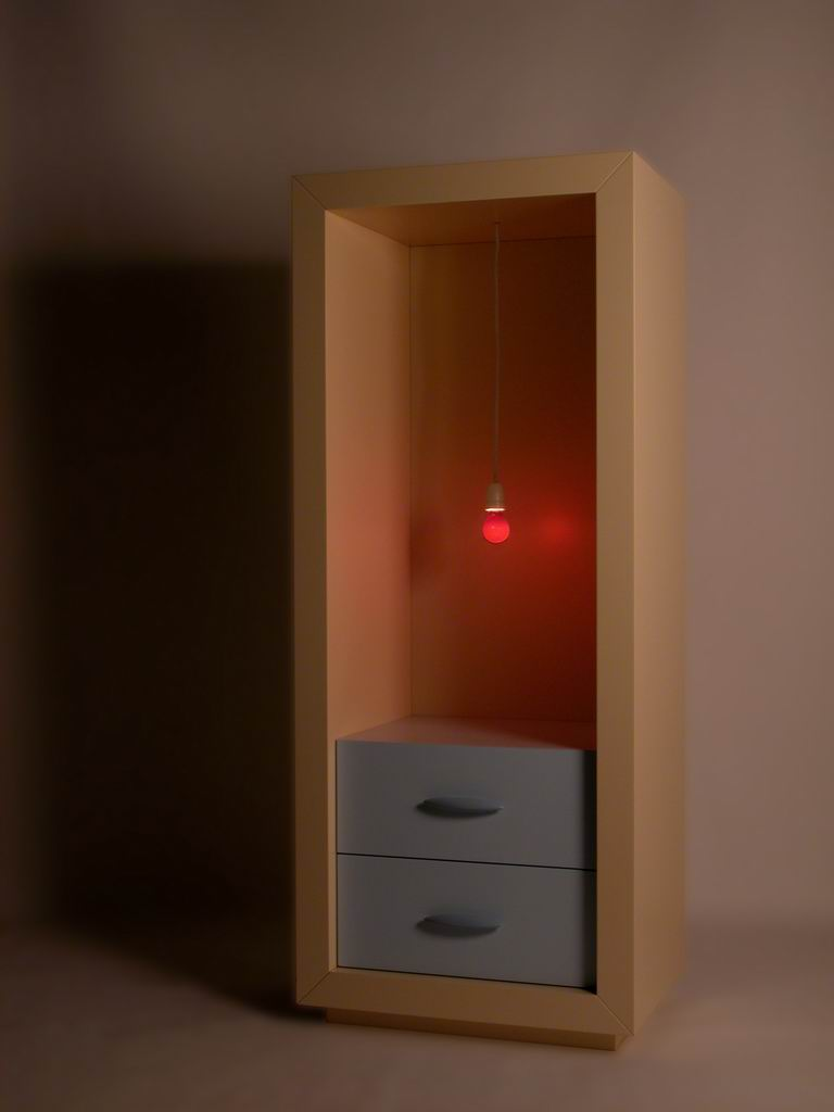 """Did you know I designed it for you?"" Chest of drawers with light"