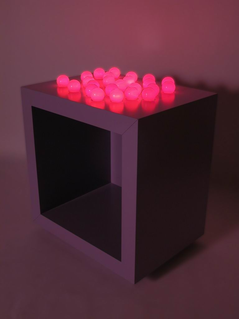 """Comodino a luci rosse"" (Red-light bedside table)"