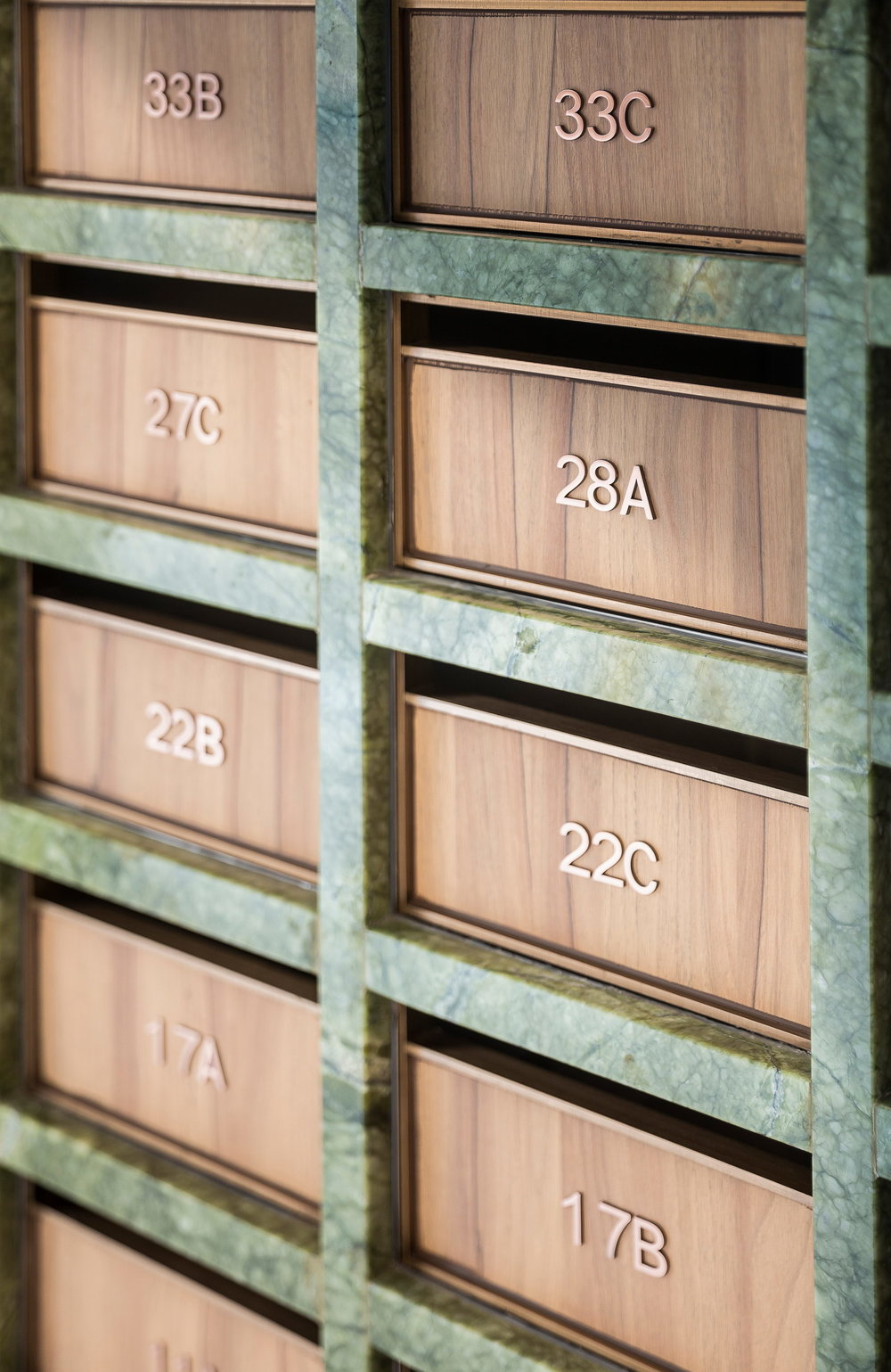 Detail of the mailboxes