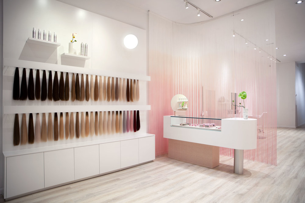 Hair Salon Design - The extensions Display