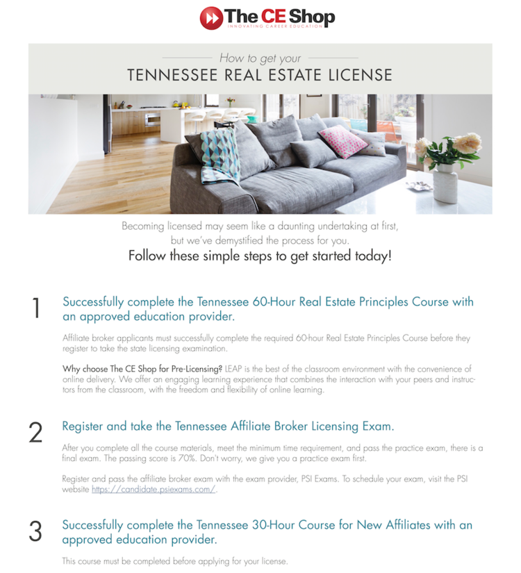 tn real estate license — join parks
