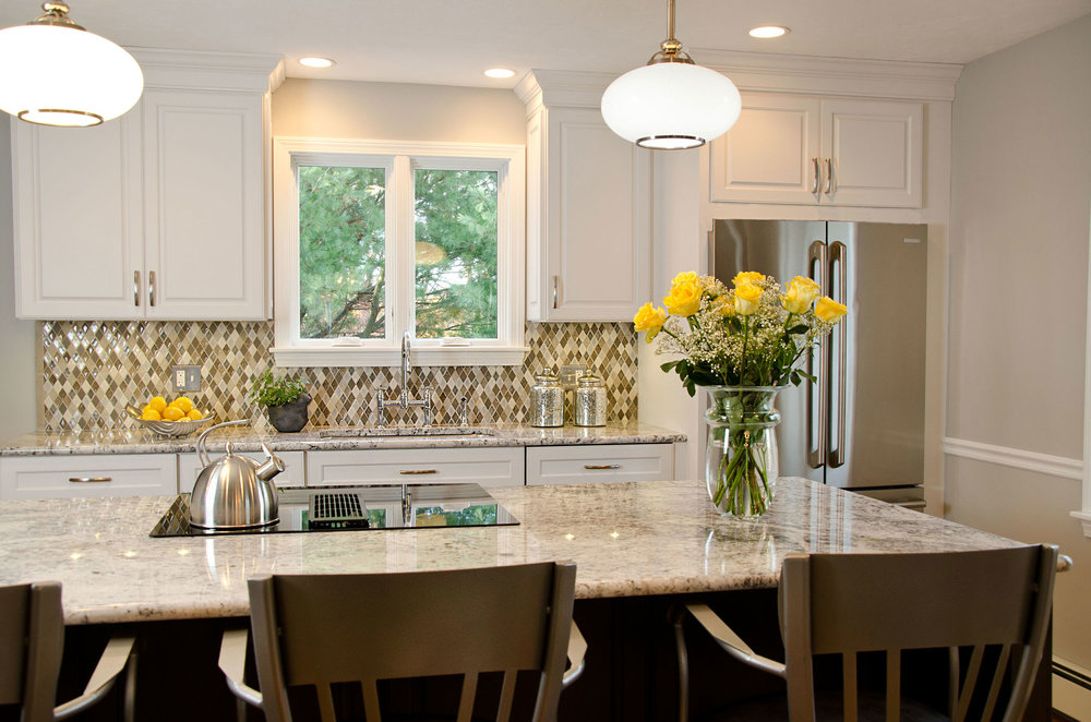 Quincy, MA kitchen interior design by Susan Curtis Interiors