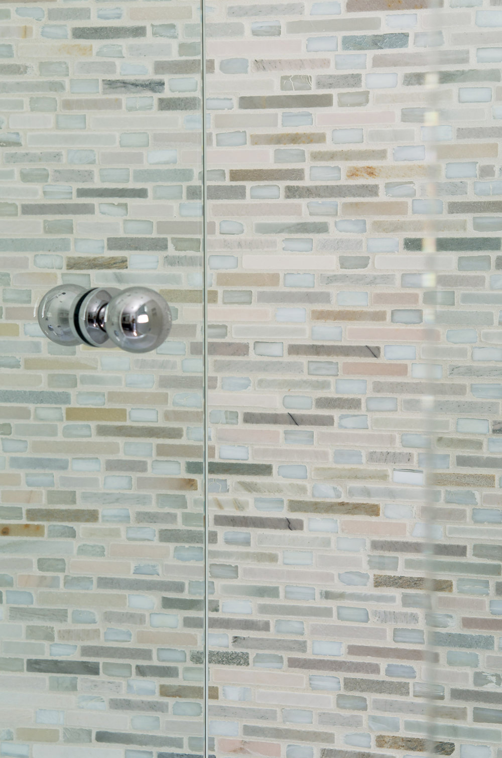 Norwell, MA custom tiled shower by Susan Curtis