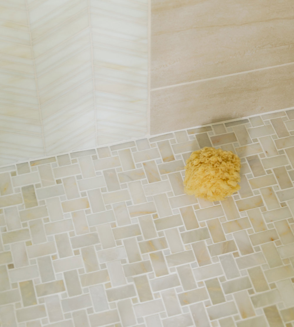 Bathroom custom tile by Susan Curtis Interiors