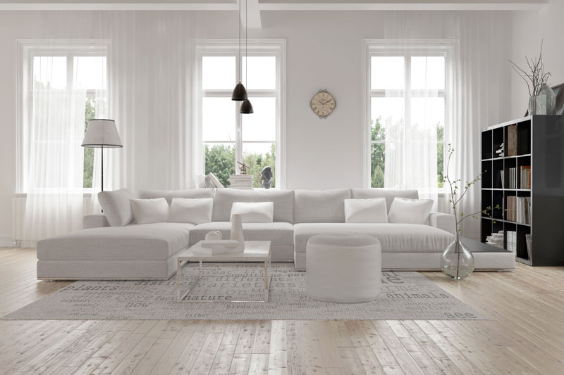 White painted livingroom
